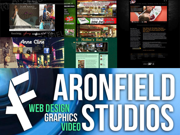 Aronfield Studios - Web Design